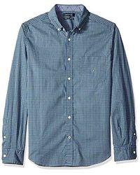 Nautica - Long Sleeve Classic Fit Plaid Button Down Shirt - Lyst