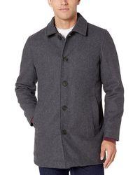 Essentials Mens Wool Blend Heavyweight Car Coat