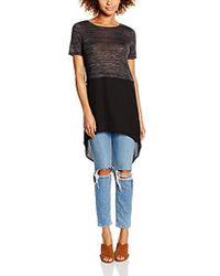 Vero Moda - Juca Short Sleeve Shirt With Contrast Fabric, - Lyst