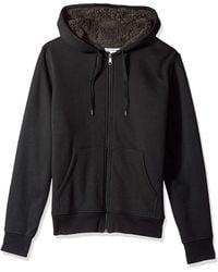 Amazon Essentials Sherpa Lined Full-Zip Hooded Fleece Sweatshirt Novelty-Hoodies - Nero