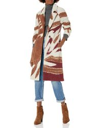 NIC+ZOE Abstract Waves Coat - Red