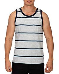 Hurley Dri-fit Harvey Stripe Tank Top - Gray