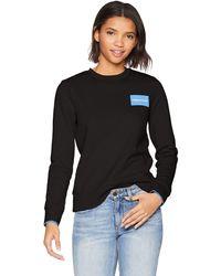 Calvin Klein Jeans Square Block Logo Crewneck - Black