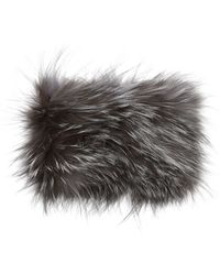 La Fiorentina Fur Headband - Gray