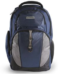 Perry Ellis P19 Business Laptop Backpack With Tablet Pocket - Blue