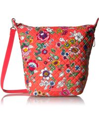 Vera Bradley Carson Hobo Bag-signature - Red
