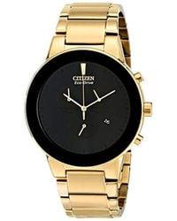 Citizen - Eco-drive Goldtone Axiom Chronograph Watch - Lyst