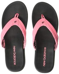 f7d66679efd Lyst - New Balance Grey   Pink Jojo Thong Sandals in Gray