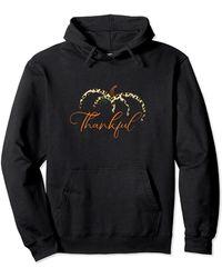 Ash Fall Leopard Print Pumpkin Thankful Women Tee Be Blessed Pullover Hoodie - Black
