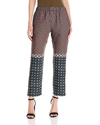 Clover Canyon Sportswear Draped Woven Pant - Multicolor