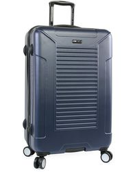 "Perry Ellis Bauer 29"" Hardside Checked Spinner Luggage - Blue"