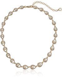 Anne Klein Gold Tone Pearl Necklace - Metallic