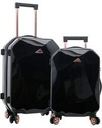 Kensie Only Shiny Diamond Luggage Set - Black