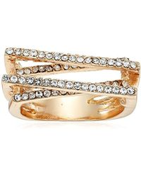 Guess - S Pave Bars Ring - Lyst
