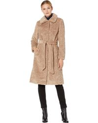 Vince Camuto Chic And Warm Faux Fur Jacket - Natural
