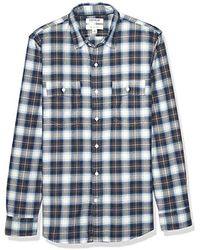 Goodthreads - Slim-fit Long-sleeve Plaid Herringbone Shirt - Lyst