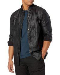 John Varvatos Zip-front Shirt Jacket - Black