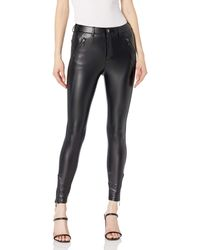 Guess Soto Pu Faux Leather Skinny Pant - Black