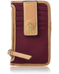Tommy Hilfiger Julia Zip Card Case - Red