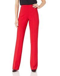 Trina Turk Chimayo Side Zip Flare Leg Pant - Red