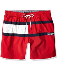"Tommy Hilfiger 7"" Swim Trunks - Red"