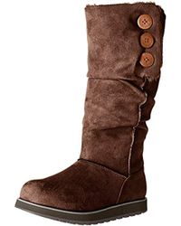 Skechers Keepsakes-big Button Slouch Tall Winter Boot - Brown