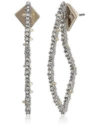 Alexis Bittar - Crystal Encrusted Abstract Thorn Post Drop Earrings - Lyst