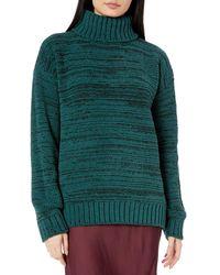 BCBGMAXAZRIA Marled Turtleneck Sweater - Green