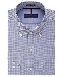 Tommy Hilfiger - Non Iron Slim Fit Gingham Buttondown Collar Dress Shirt - Lyst