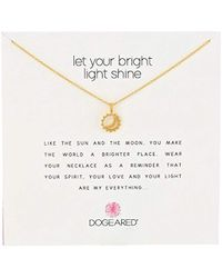 """Dogeared - Reminder Let Your Bright Light Shine Sun And Moon Pendant Necklace, 16.25"""" - Lyst"""