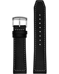 Citizen Cz Smart 22mm Smartwatch Black Leather Interchangeable Strap