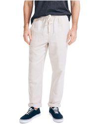 Nautica Classic Fit Drawstring Linen Pant - Multicolore