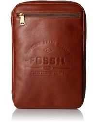 Fossil Tech Pouch Cognac - Brown