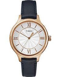Timex - Peyton Leather Strap Watch - Lyst