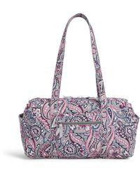 Vera Bradley Signature Cotton Large Travel Duffel Travel Bag - Purple