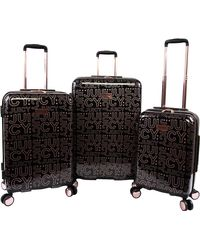 Juicy Couture Florence 3-piece Hardside Spinner Luggage Set - Black