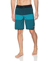 2ab88e62ca Quiksilver Way Out Scallop Board Shorts in Red for Men - Lyst