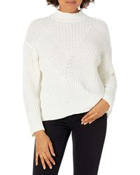 RVCA Mens Arabella Mock Neck Pullover Sweater - White