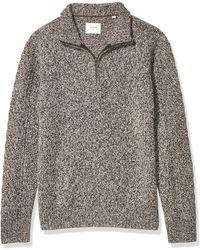 Billy Reid Cashmere Half Zip Pullover Sweater - Brown