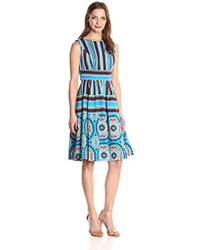 Plenty by Tracy Reese - Soweto Placement Print Frock Dress - Lyst
