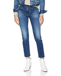AG Jeans Isabelle High-rise Straight Crop - Blue