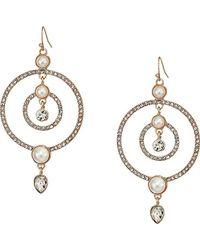 Guess - S Fishhook Earrings W/stones - Lyst