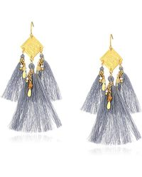 Chan Luu - Eventide Mix Coin And Tassel Drop Earrings - Lyst