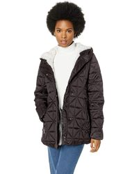 Steve Madden Glacier Shield Parka Jacket Down Alternative Coat - Black