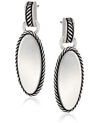 Napier - Silver-tone With Antique Post Drop Earrings - Lyst