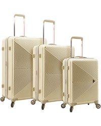 Kensie Dawn Hardside 3-piece Spinner Luggage Set - Metallic