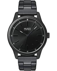 BOSS by Hugo Boss Hugo #dare Quartz Black Ip And Black Ip Bracelet Casual Watch - Brown