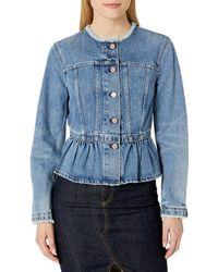 Rebecca Taylor La Vie Denim Peplum Jacket - Blue