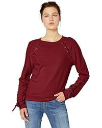 Jessica Simpson Kiana Lace Up Sweatshirt - Red