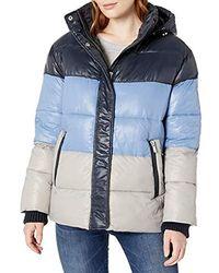 Rachel Roy Light Puffer Jackets - Blue